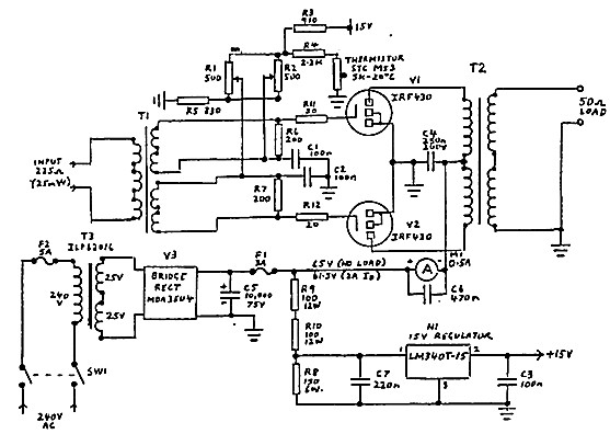 high frequency power supply schematic with Mosfetlinear on Tba120 Demodulator further Schematics furthermore Forum viewtopic likewise Product product id 1001 moreover MosfetLinear.