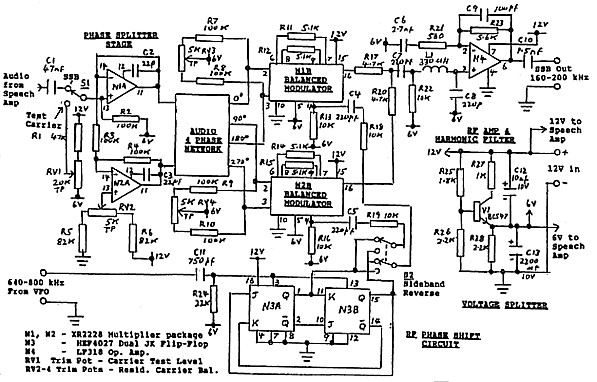 single sideband modulator for lf