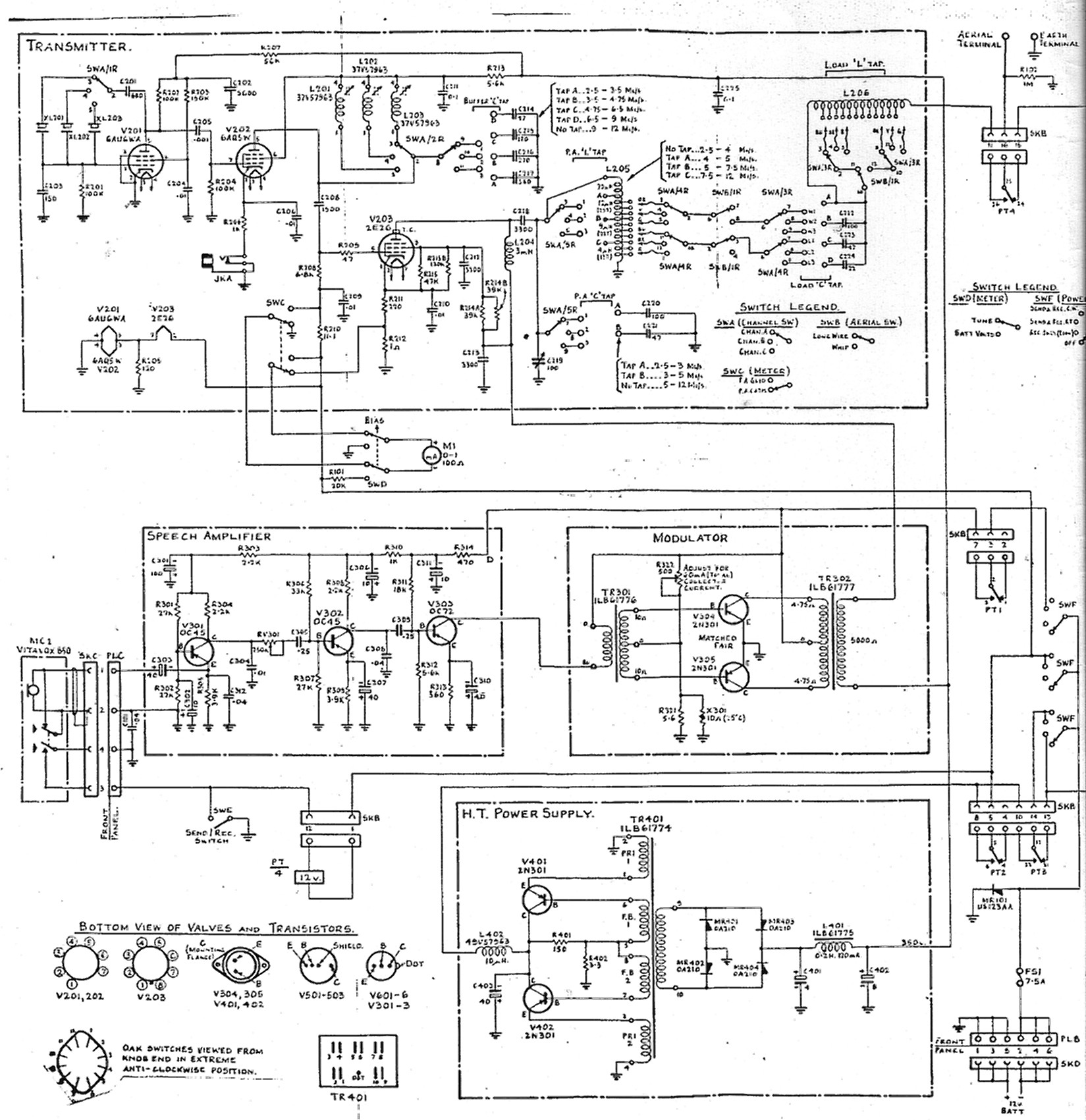 wre type 2 transceiver circuit diagrams rh users tpg com au radio transceiver circuit diagram bluetooth transceiver circuit diagram