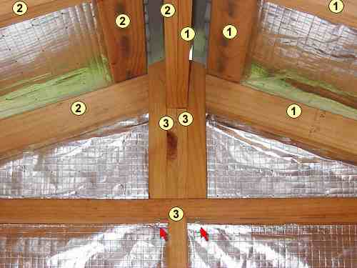 How to build a cubby house  play house The numbered parts stay together on disassembly  Note the split ridge beam